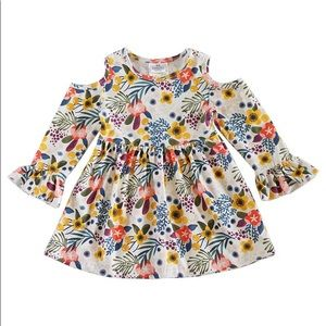 Other - KIDS floral cold shoulder dress